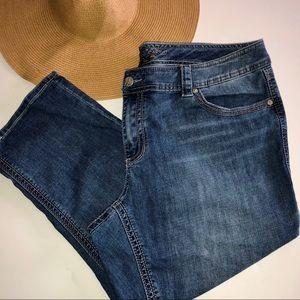 Melissa McCarthy Seven7 Classic Crop Capri Jeans